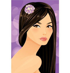 Beautiful Asian Woman Portrait vector image