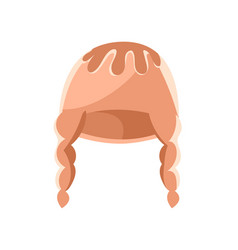 beige winter hat vector image