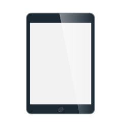 Black business tablet in iPad style isolated on vector