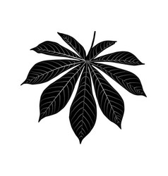 Black leaf icon isolated on white background vector
