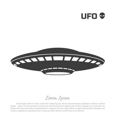 Black silhouette ofa ufo on white background vector