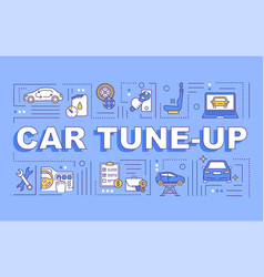Car tune-up word concepts banner vector