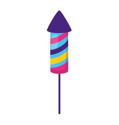 carnival rocket fireworks vector image