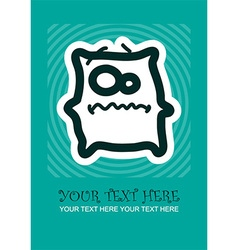 Cartoon monster texture vector