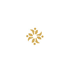 circle floral decorative logo vector image