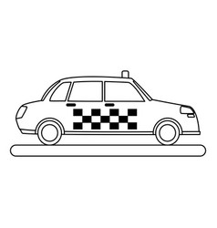 Classic taxi icon image vector