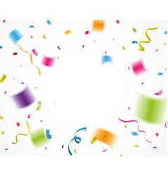 colorful confetti for celebration vector image