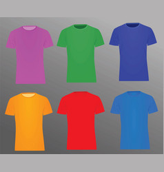 Colorful t shirts vector