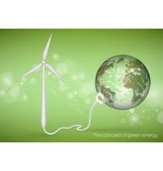 Concept of green energy vector