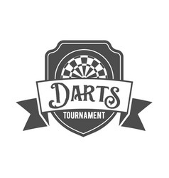 Darts label badge log vector