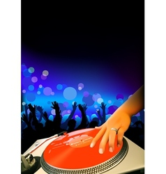 DJ And Audience vector image