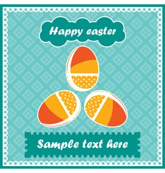 easter postcard vector image vector image