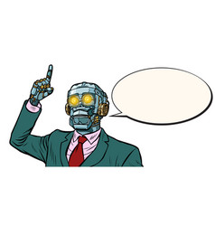 Emotional speaker robot dictatorship of gadgets vector