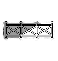 Farm wooden fence vector