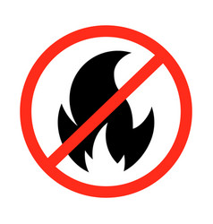 fire prohibition sign vector image