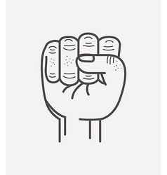 Fist isolated icon design vector
