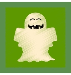 flat shading style icon Halloween ghost vector image