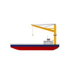 floating crane industrial ship cargo vector image