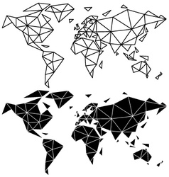 Geometric world map vector image