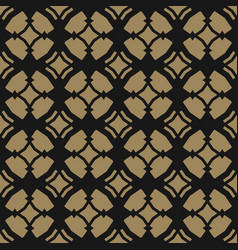 gold black ornament geometric oriental pattern vector image
