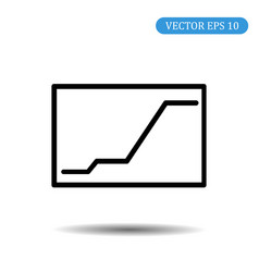 graph icon eps 10 vector image