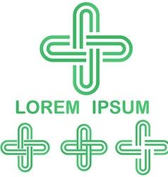 Green cycle logo design template set vector