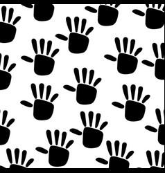 Hand print ecology symbol vector