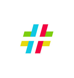 Hashtag or tagar with colorful style vector