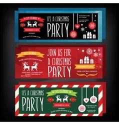 Invitation Merry ChristmasTypography vector image
