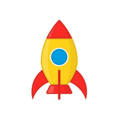 kid amusement rocket icon vector image