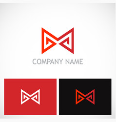 letter m triangle company logo vector image