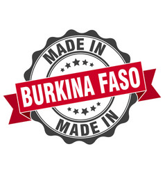 Made in burkina faso round seal vector