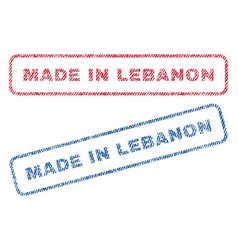 made in lebanon textile stamps vector image