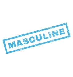 Masculine rubber stamp vector