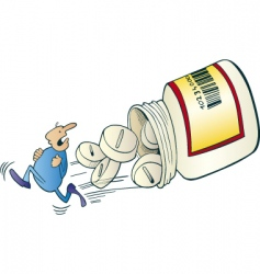 Medicine pills vector