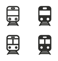 Metro icon set vector