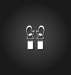 mittens winter icon flat vector image