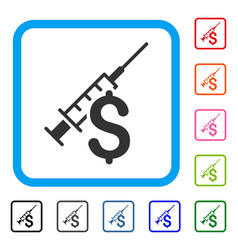 Narcotic business framed icon vector