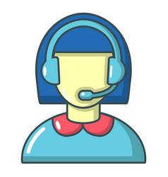 Operator icon cartoon style vector