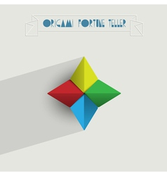 Origami Fortune Teller vector image