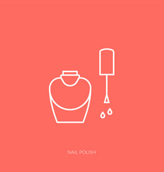 outline icon woman accessories - nail vector image
