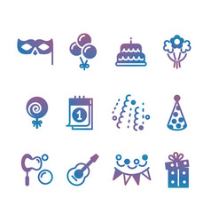 party event festive icons vector image