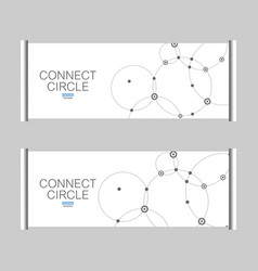 pattern with connected circles and dots vector image