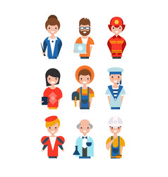 people different professions set working vector image