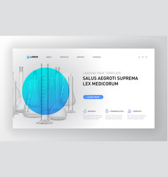 pharmaceutical landing page template vector image