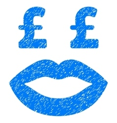 Pound prostitution smiley grainy texture icon vector