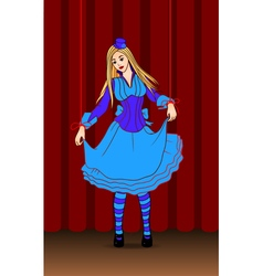 puppet doll on stage vector image