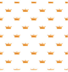 Queen crown pattern seamless vector