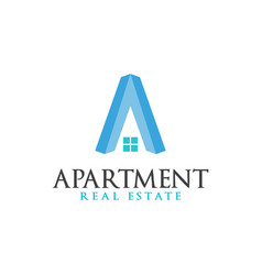 real estate initial letter a logo design template vector image