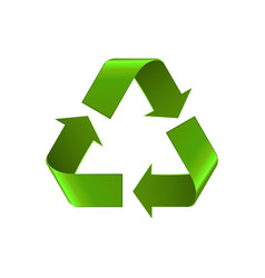 Recycle symbol isolated on white green arrows vector